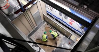 La instalación de ascensores en la estación de Pavones ya está al 60%