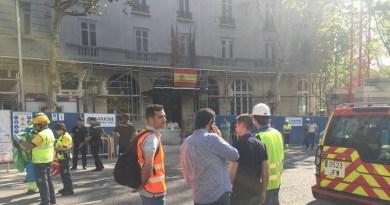 Al menos 5 obreros heridos y 2 atrapados tras derrumbarse un forjado en las obras del hotel Ritz