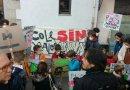 Alumnos de Centro y Arganzuela muestran su apoyo a Madrid Central portando mascarillas