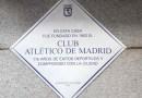 Madrid homenajea al Atlético con una placa conmemorativa en el lugar de su nacimiento