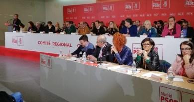 El Comité Regional del PSOE de Madrid ratifica el trabajo de su dirección