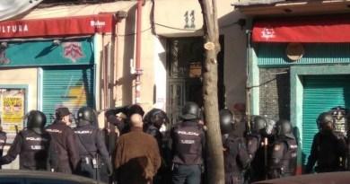 Nueve personas detenidas durante el desahucio de cuatro familias en Lavapiés