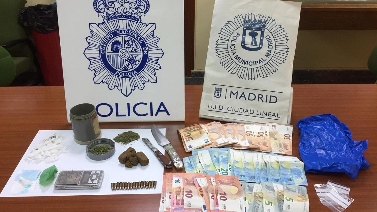 Tres detenidos por tráfico de drogas en el desmantelamiento de un narcopiso en Ciudad Lineal