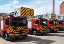 Los Bomberos de la Comunidad de Madrid presentan sus nuevos vehículos autoescalera