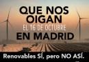 Más de 160 asociaciones y plataformas se manifiestan este sábado en Madrid contra los macroproyectos de energías renovables