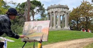 50 personas participan en el Certamen Nacional de Pintura Rápida Parque El Capricho en Otoño