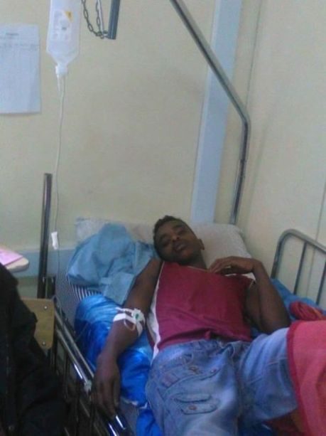 Wounded Oromo Student