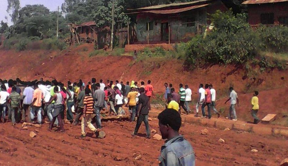 Oromo protests by students in Ayra/Guliso (Western Oromia)