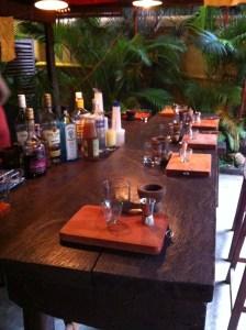 Bar Setup for Khmer Cocktail Class