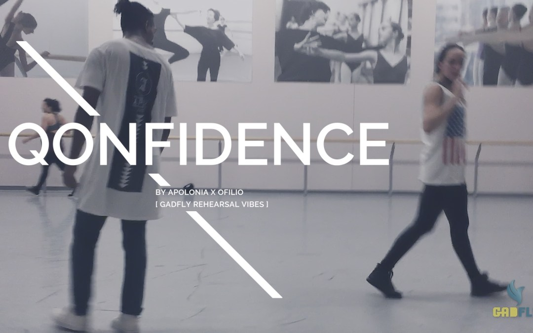 Some dancers just chillin – Gadfly rehearsal vibes for Qonfidence