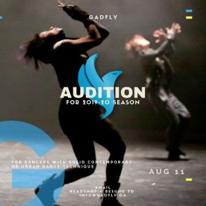 GADFLY AUDITION 2019