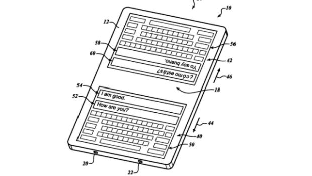 Google patents a keyboard for the real-time translation
