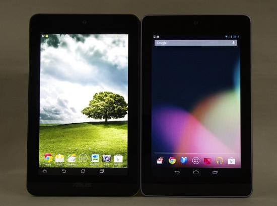 ASUS MeMO Pad HD7とNexus7を比較してみた。