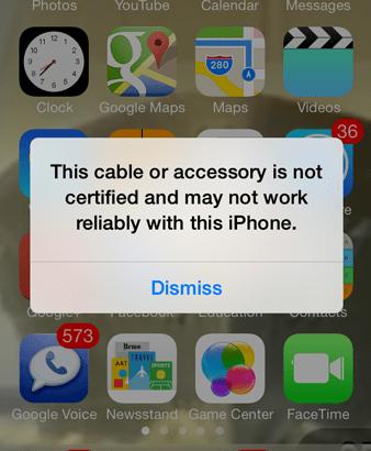 じぇじぇじぇ('jjj')/iOS7で非純正Lightningケーブルを使用不可に!?