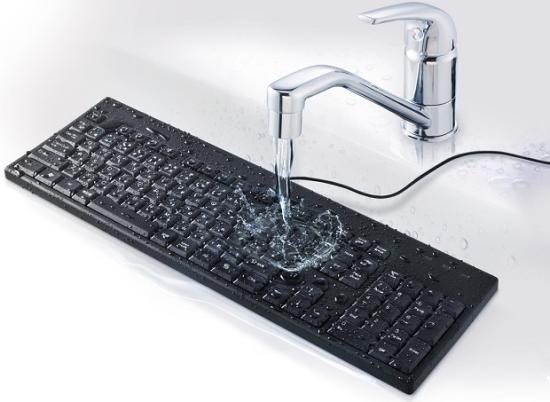 水洗いできるUSB接続キーボードが発売