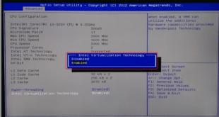 mengaktifkan virtualization bios