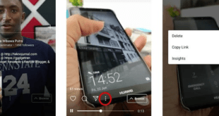 Menghapus Video di IGTV