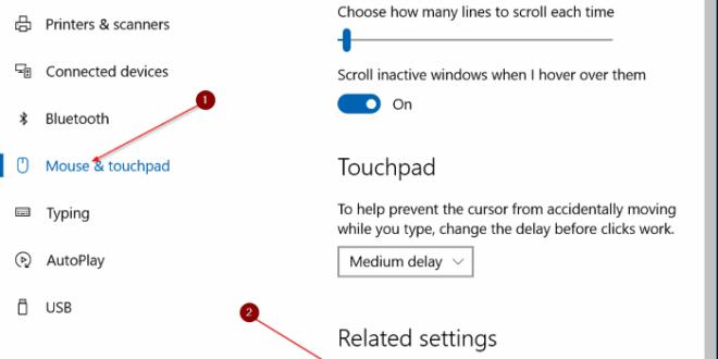 Cara Reset Ulang Pengaturan TouchPad (Mouse) di Windows 10