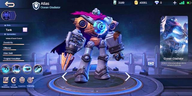 Build item hero atlas mobile legends