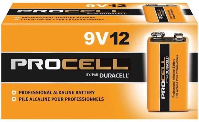 Duracell Procell 9 Volt Batteries
