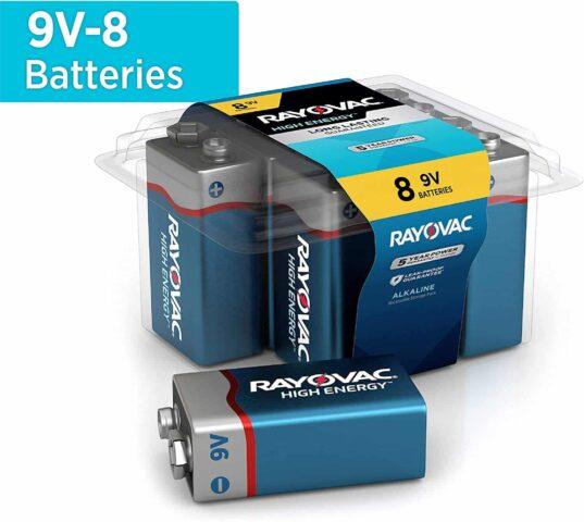 Rayovac 9V Batteries, Alkaline 9V Battery