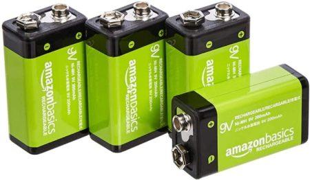 AmazonBasics 9V Cell Rechargeable Batteries
