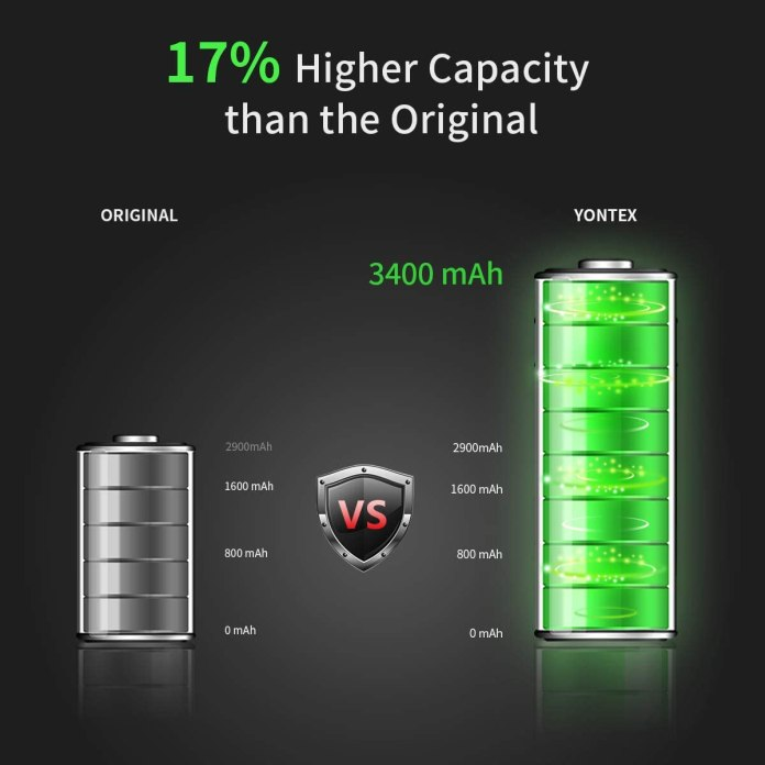 YONTEX high capacity battery replacement