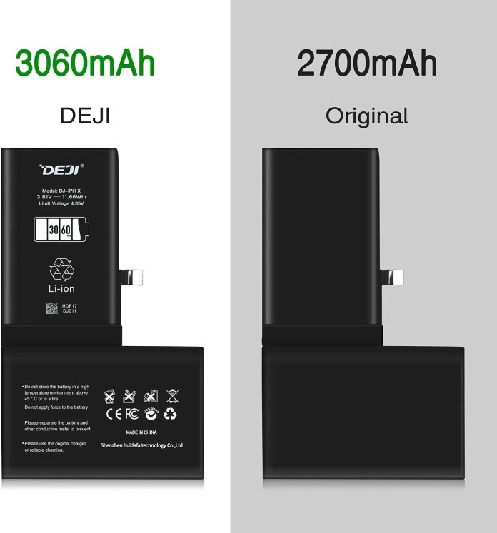 DEJI iPhone X replacement battery