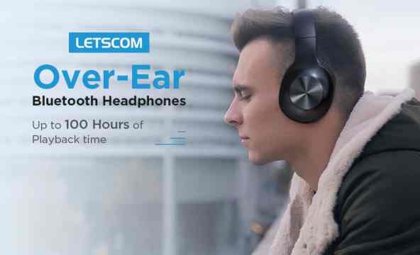 Letscom Over Ear Headphones