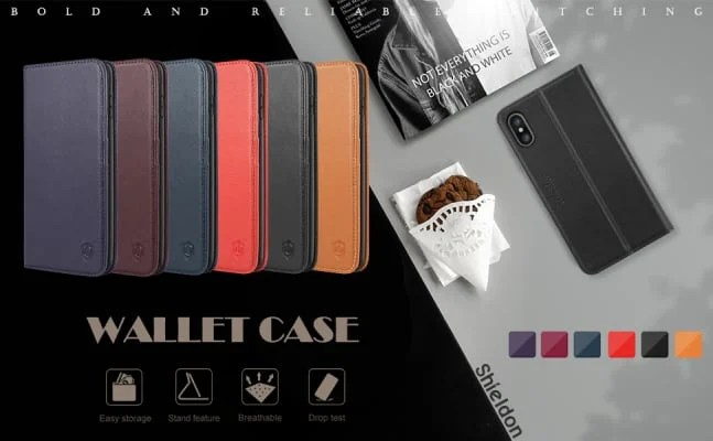 Shieldon iPhone XS MAx wallet case/cover