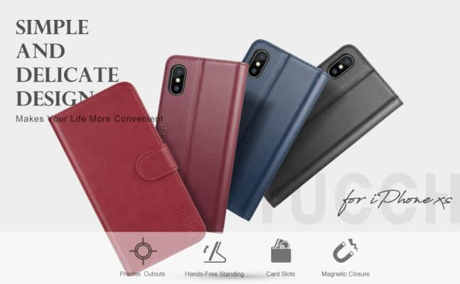 TUCCH iPhone XS Wallet Case/Cover