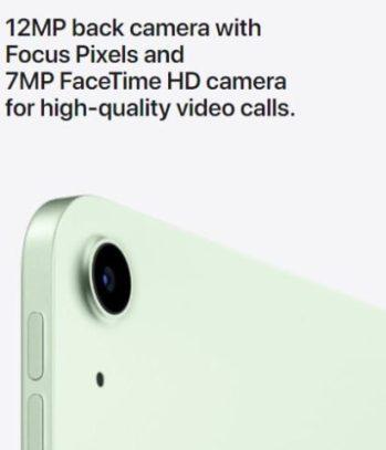 iPad Air Cameras