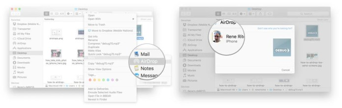 File transfer on Mac