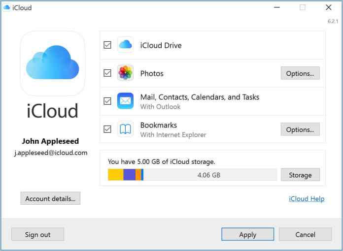 Set up iCloud for Windows