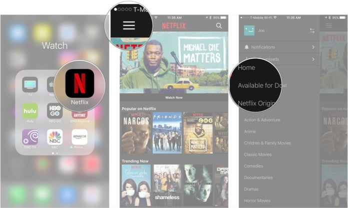 download a movie or TV episode on Netflix