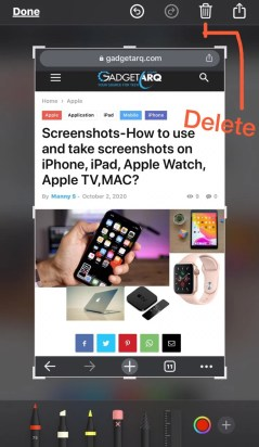 instant markup delete