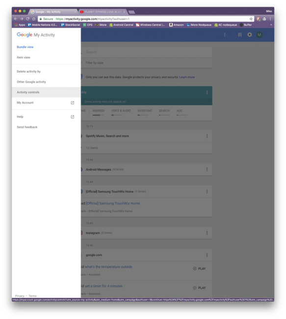 Delete 'My Activity' in Google