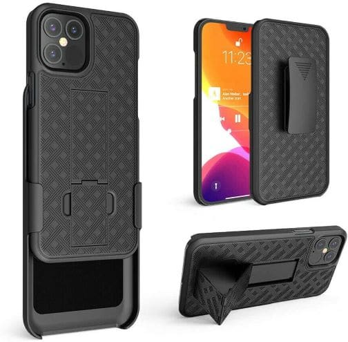 Heavy Hybrid Holster Belt Clip Case Cover for iPhone 12 Pro Max