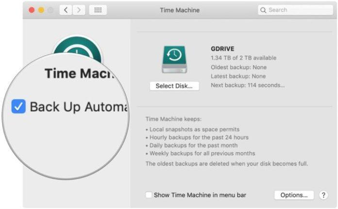 backup Mac with Time Machine