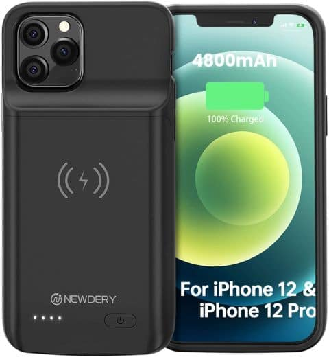 NEWDERY Battery Case for iPhone 12 Pro