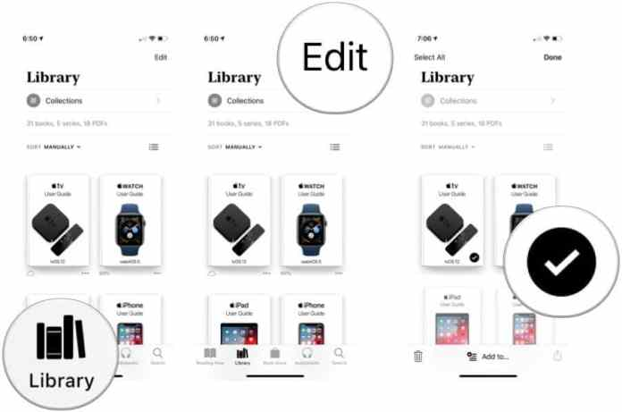 Manage your library in Apple Books and add books to a collection