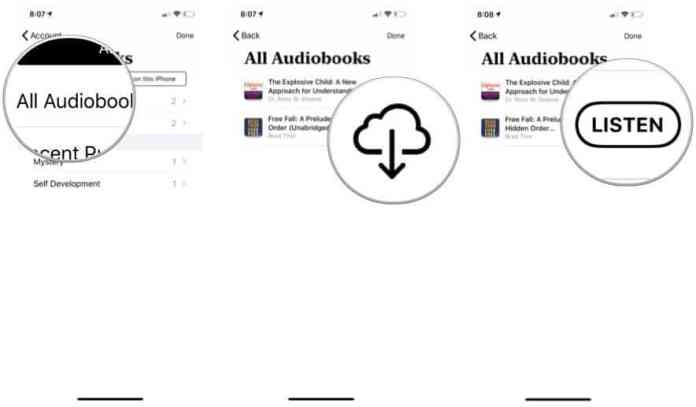 redownload an audiobook in Apple Books
