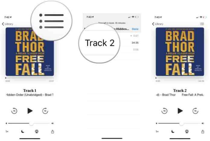 specific time in an audiobook