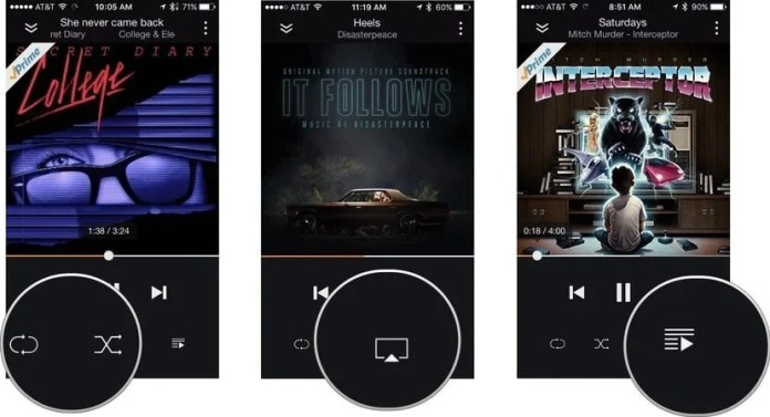 listen amazon prime music on iPhone