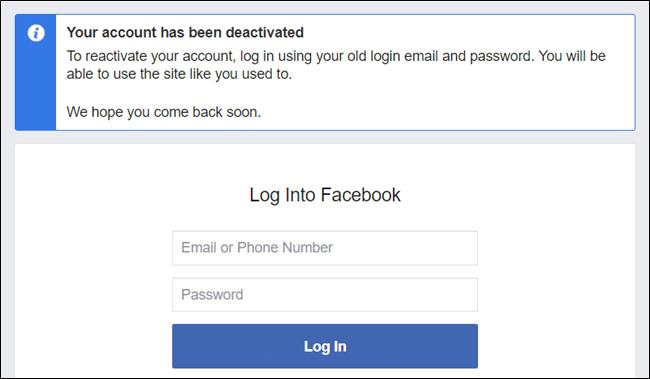 reactivate Facebook account
