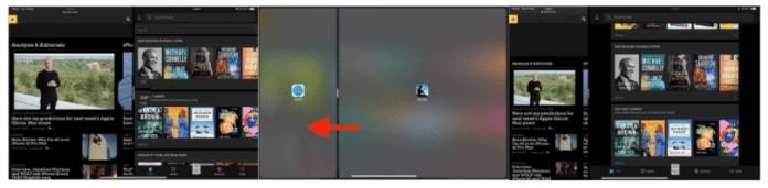 reposition an app in Split View