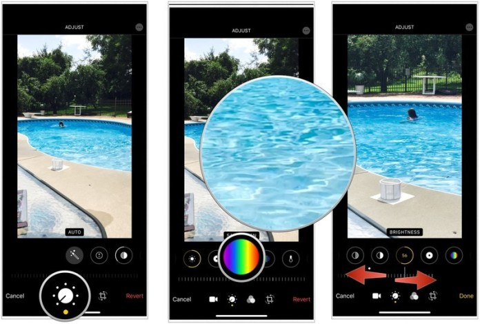 adjust the saturation of your video- Edit videos on the iPhone and iPad