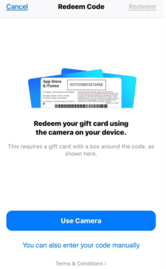 gift apps App store/redeem gift cards apple