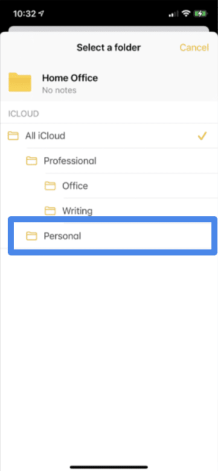Sync notes on iPhone and iPad