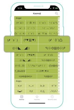 Kaomoji Emoji App for iPhone/iPad